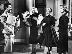 "Marilyn Monroe as Pola Debevoise, Betty Grable as Loco Dempsey & Lauren Bacall as Schatze in ""How To Marry A Millionaire"" release date November 5, 1953"