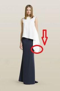 Patrón gratis: top con un rectángulo lateral (copiando a Carolina Herrera)