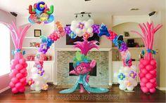 2nd Birthday Party Themes, Trolls Birthday Party, Troll Party, 4th Birthday, Rockstar Birthday, Jojo Siwa Birthday, Balloon Decorations, Birthday Decorations, Balloon Ideas