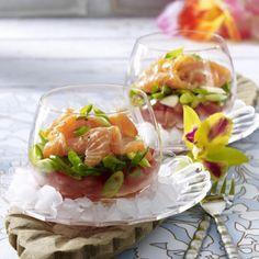 Lomi Lomi (Hawaiianischer Lachssalat) Rezept. Hawaiianisch essen.
