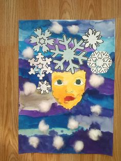 Winter Crafts For Kids, Art For Kids, Projects For Kids, Art Projects, Winter Art, Art Lesson Plans, Elementary Art, Art Lessons, Diy And Crafts