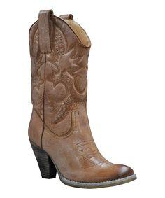 Tan Denver Cowboy Boot  Very Volatile  $49.99