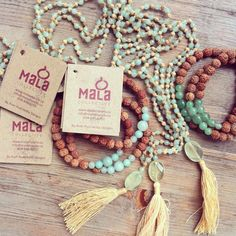 Unpacking your favourite Mala beads from https://shop.malacollective.com/ #yoga…