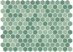 Lyric 1 x 1 Glazed Porcelain Mosaic Hex Tile in Swim Green