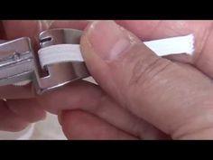Overlock: Cómo usar el pie para colocar resorte o listón en una overlock casera brother - YouTube