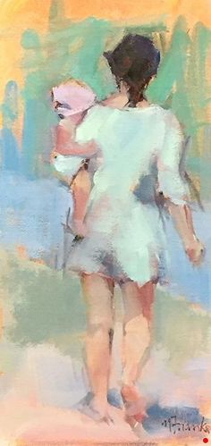 Hold Tight by Nancy Franke Oil ~ 16 x 8