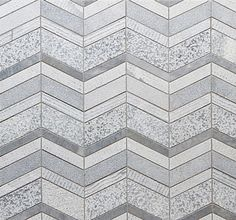 SHIFT Stone Chevron Mosaic: 4-1/2'' x 3/4'', 1'', 1-1/2'', 2-1/4''\ Walker Zanger