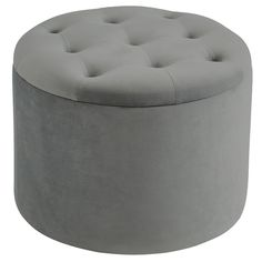 Stylish and functional, the !nspire Talia Storage Ottoman is upholstered in luxe velvet. The removable lid features diamond stitching and color-match. Round Storage Ottoman, Tufted Storage Ottoman, Round Ottoman, Bedroom Ottoman, Cocktail Ottoman, Foam Cushions, Tufting Buttons, Diamond Pattern, Velvet
