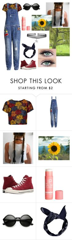 """""""~Flower Child~"""" by bribrireed ❤ liked on Polyvore featuring Alice + Olivia, Sans Souci, Converse, H&M, ZeroUV and Boohoo"""