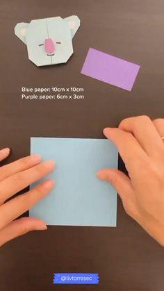 Instruções Origami, Paper Crafts Origami, Diy Paper, Diy Crafts Bookmarks, Army Crafts, Kpop Diy, Bts Wallpaper Lyrics, Bts Aesthetic Wallpaper For Phone, Bts Book
