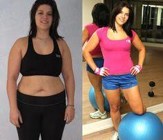 pérdida de peso en forma de manzana antes y después