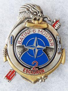 Insigne Troupes Coloniales OU DE Marine 1° R I M A 2° Escadron Batinf 6 | eBay