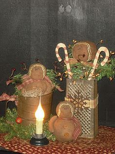Primitive Crafts with Old Stuff Primitive Christmas, Country Christmas, All Things Christmas, Winter Christmas, Vintage Christmas, Christmas Holidays, Christmas Kitchen, Christmas Ideas, Cabin Christmas