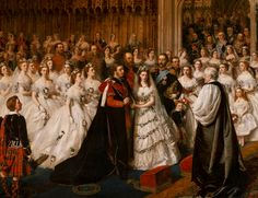 The Prince of Wales and Princess Alexandra of Denmark - 10 March 1863, St. George's Chapel, Windsor Castle - William Powell Frith (1819-1909)