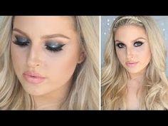 Glamorous Hair & Makeup Tutorial! ♡ Braids, Curls & Glitter!