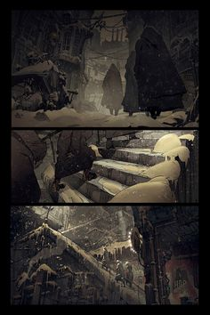ArtStation - comic book pages_ПЕПЕЛ_ASH, Dmitry Klyushkin