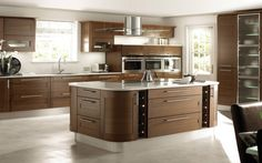 Bespoke wooden kitchen, for example, is becoming more popular and in-demand among property owners. Checkout 20 cool modern wooden kitchen designs for your inspiration. Two Tone Kitchen Cabinets, Cheap Kitchen Cabinets, Kitchen Furniture, Kitchen Interior, Furniture Design, Cheap Furniture, Kitchen Countertops, Glass Cabinets, Furniture Dolly