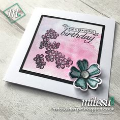 Birthday Blossoms and Pansy Punch by Stampin' Up! from Mitosu Crafts' Card Making Class / Craft Group in Basingstoke