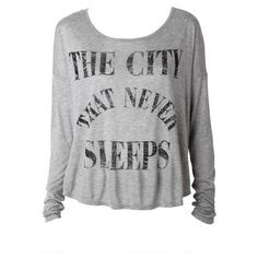 The City that Never Sleeps Tee ($20) ❤ liked on Polyvore featuring tops, shirts, sweaters and blusas