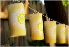 """Mighty Delighty: Rapunzel Princess Party Paper lanterns or """"floating lights"""" FREE Printable...great for tangled theme party!"""