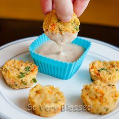 Cheesy Quinoa Bites...  Fantastic!!!  I used almond flour.  Had a hard time getting them out of the mini muffin pan. Next time they'll go on a parchment paper lined cookie sheet.