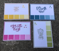 Stampin' by candlelight: 4 cards, 1 stamp set and 1 simple design - layerin... Layering love stamp set, color theory Designer series paper,  stampin' up!