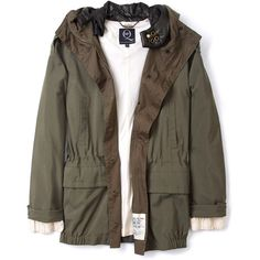 McQ Alexander McQueen Green Hooded Parka (6.250 CZK) found on Polyvore