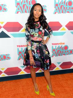 Sydney Park's fit-and-flare floral dress.
