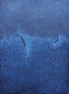 Landscape Drawings, Mark Making, Blue, Color, Clothes, Style, Dibujo, Grasses, Paint