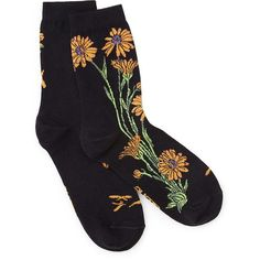 Women's Apothecary Marigold Socks (44 PLN) ❤ liked on Polyvore featuring intimates, hosiery, socks, accessories, socks and tights and black