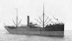 14 mei 1915 Het ss 'Tjimahi' (1903) van de Java-China-Japan Lijn,  op weg van Hongkong naar Java, loopt op een rif http://koopvaardij.blogspot.nl/2015/05/14-mei-1915.html