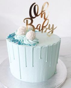 55 Trendy Ideas For Baby Shower Boy Cake Drip - K's Birthday Cake - Torta Baby Shower, Baby Shower Cakes For Boys, Baby Shower Brunch, Baby Boy Shower, Baby Shower Drip Cake, Baby Showers, Baby Boy Cake Topper, Baby Boy Cakes, Babyshower Cake Boy