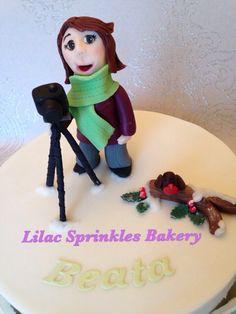 Photographer cake topper