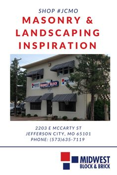Your local #JCMO store has masonry and landscape product solutions like retaining walls, paving stones and slabs, clay pavers, blocks, and commercial and residential brick.   We sell to contractors and the general public, too. Stop by Midwest Block & Brick in Jefferson City, Missouri for creative inspiration and professional advice. 	 2203 E. McCarty St. Jefferson City, MO 65101 (573) 635-7119  http://residential.midwestblock.com/index.php/locations  #MidwestBlock #JCMO #Missouri #DIY…