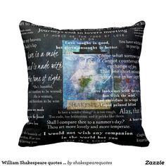 William Shakespeare quotes about love Pillow