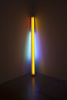 Dan Flavin - Sans Titre (to the Real Dan Hill), 1978    Destroying rooms with darkness, rebuilding them with light.