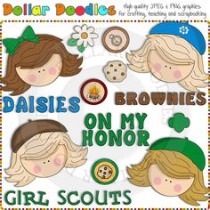 Scouting Girls Clip Art Download