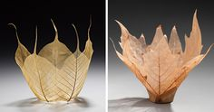 Beautiful Leaf Bowls Made From Real Leaf Skeletons | Bored Panda