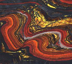 Australia: Mesoarchean banded iron from about 2.8 billion years ago
