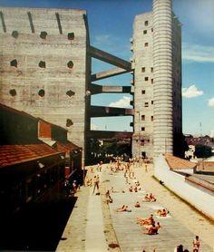 brutalistrevival:    Lina Bo Bardi- SESC Pompeia Sao Paulo recreational center  http://www.sescsp.org.br/sesc/