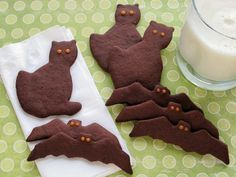 Gluten-Free Chocolate Halloween Cut Out Cookies at lifeyourway.net