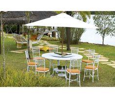 Mesa Toscana com Cadeira Bambu
