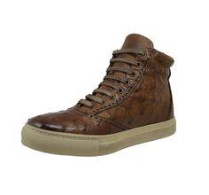 Calzoleria Toscana 3696 Cognac Ostrich Sneaker