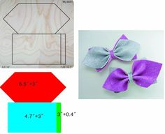 bow die & Wooden dies for scrapbooking, fit sizzix bigshot machine Felt Flowers, Fabric Flowers, Felt Crafts, Diy And Crafts, Bow Template, Templates, Making Hair Bows, Bow Making, Felt Bows