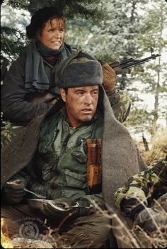 Lea Thompson and Powers Boothe in Red Dawn Powers Boothe, In Memorium, Fight For Freedom, Military Operations, Hooray For Hollywood, Film Music Books, Back To The Future, Great Movies, Warfare