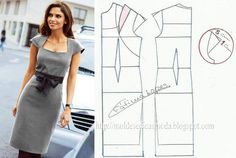 Sewing Patterns for dresses Diy Clothing, Sewing Clothes, Dress Sewing Patterns, Clothing Patterns, Fashion Sewing, Diy Fashion, Female Fashion, Costura Fashion, Pattern Cutting