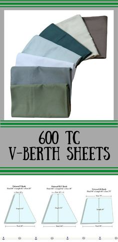 Universal V Berth Sheet Set Contains: Fitted Sheet, Top Sheet and Two King Pillow Cases#boatsheets #vberthsheets #aff