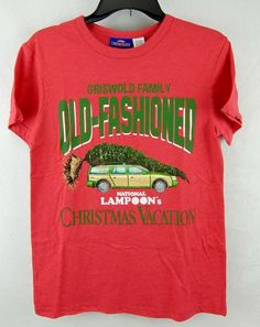 Christmas Vacation Mens T-Shirt Red National Lampoon Griswold Old Fashioned S M #Marvel #GraphicTee