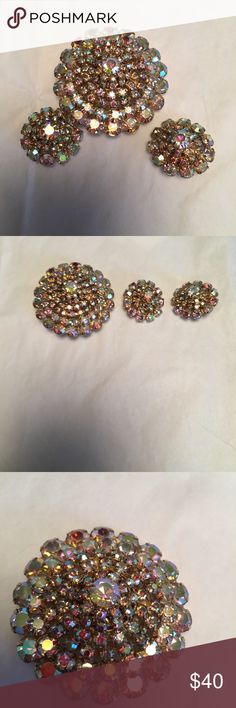 50's Antique Matching Brooch & Clip On Earrings 50's Antique Matching Brooch & Clip On Earrings Accessories
