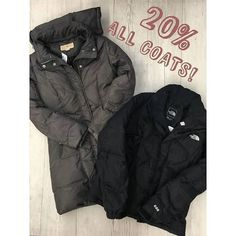 Our coat event is just around the corner  Come and check it out this Saturday! Putting out all of our jackets and coats and they will all be 20% off (yes even these North Face and Michael Kors ones pictured!!!!) These babies available at our HH store! http://ift.tt/2dQkdt5 - http://ift.tt/1HQJd81